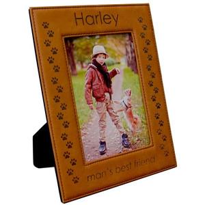 Rawhide Leatherette Photo Frame