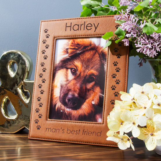 Faux Leather Rawhide Picture Frame
