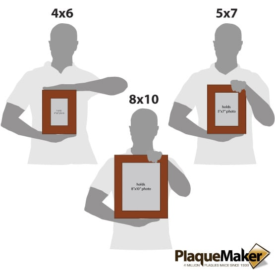 Rawhide Leatherette Photo Frame Size Comparison