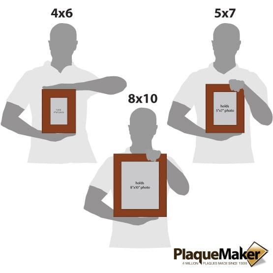 Rawhide Leatherette Photo Frame Size Comparison