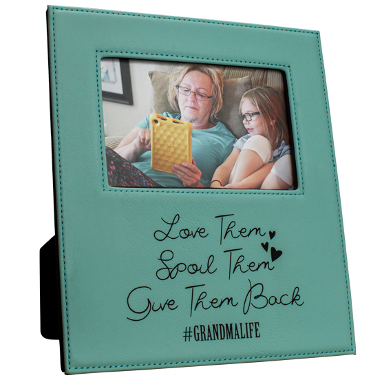 Teal Message Picture Frame