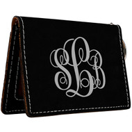 Black with Silver Wallet