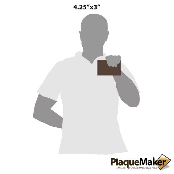 Dark Brown Wallet Size