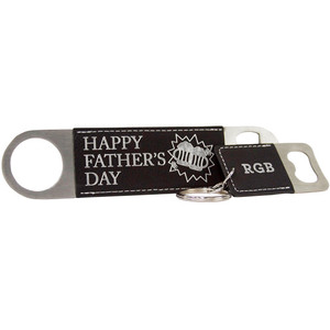 Black Keychain and Bottle Opener
