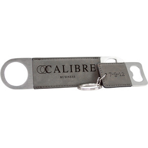 Gray Keychain and Bottle Opener