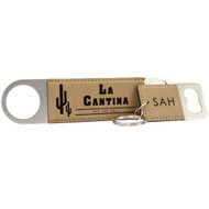 Faux Leather Keychain with Keyring