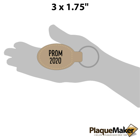 Prom Leatherette Keychain Size