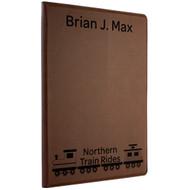 Custom Dark Leatherette Notebook