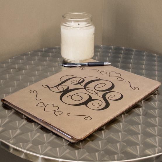 Light Leatherette Notebook
