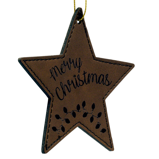 Faux Leather Star Ornaments