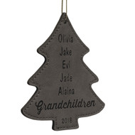 Faux Leather Tree Ornaments