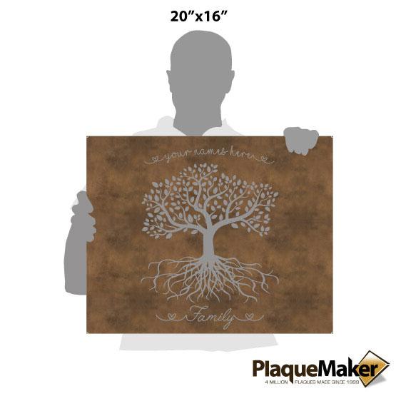 Family Tree Canvas Size