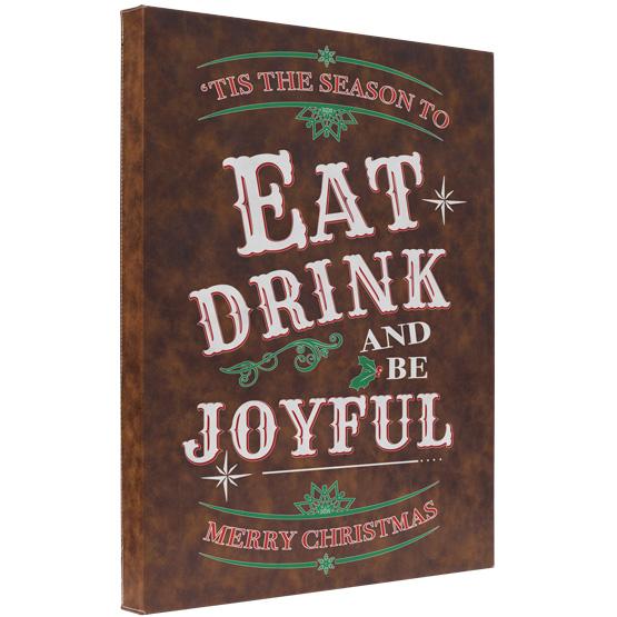 Be Joyful Faux Leather Canvas