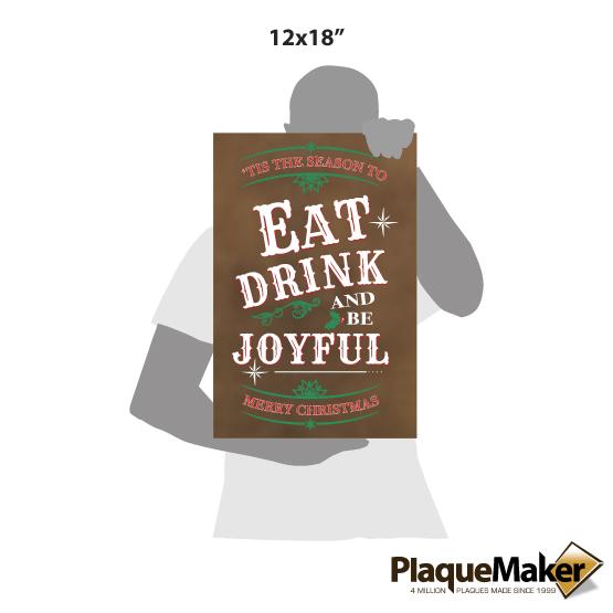 Be Joyful Faux Leather Canvas Sizes