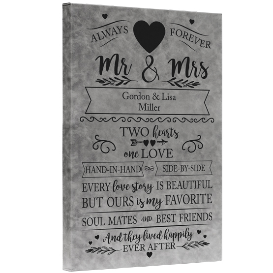 Love Story Faux Leather Canvas