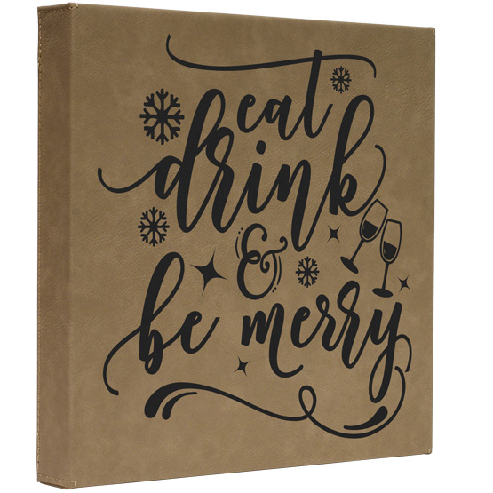 Be Merry Faux Leather Canvas