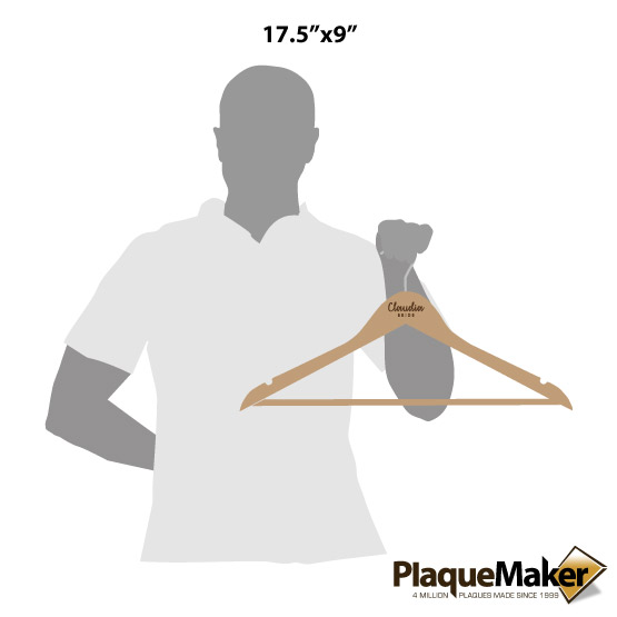 Maple Clothes Hangers Style 1 Sizes