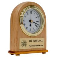 portrait red alder clock