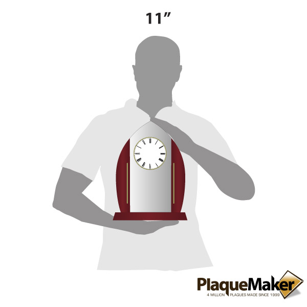 Acrylic Arch Clock Size Guide