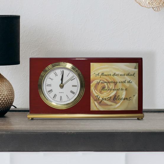 Photo Clock - Landscape Rosewood Piano Finish