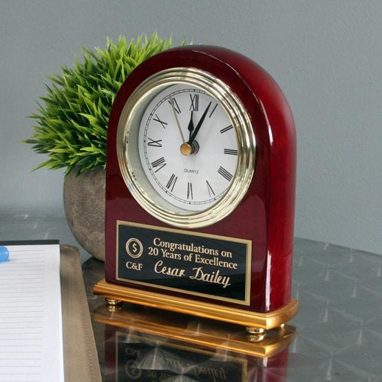 Rosewood portrait clock