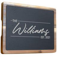 Acacia Wood and Slate Cutting Board