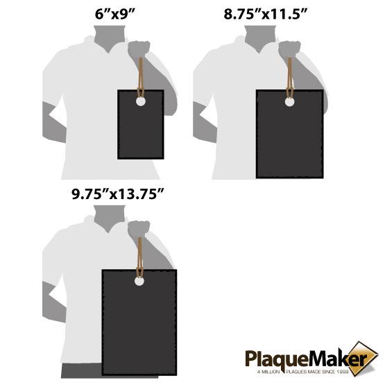 Slate Cutting Decor Size Guide