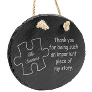 Piece of my story Slate Hanger