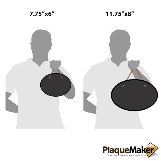 Slate Oval Size Guide