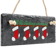 Stockings Hanging Slate Decor