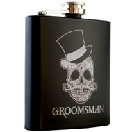 Matte Black Stainless Steel Flask - 6oz