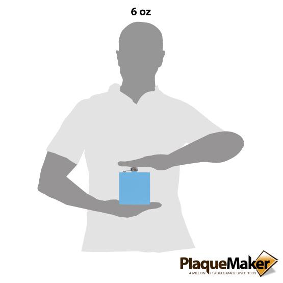 Light Blue Flask Size