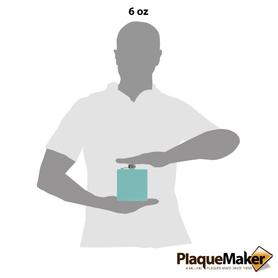 Teal Flask Size