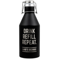 64 oz Black Growler