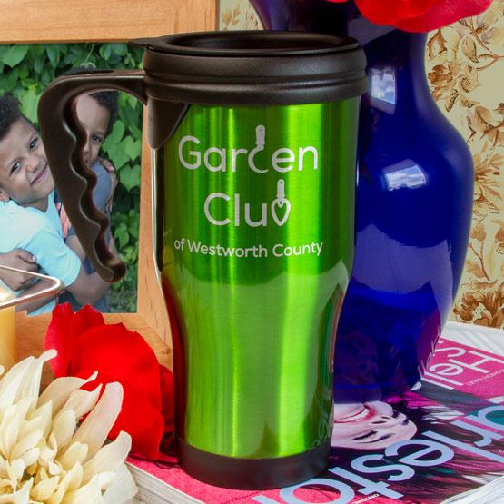 Green Travel Mug w/Handle