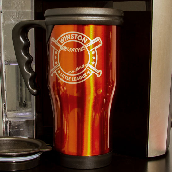 Orange Travel Mug w/Handle