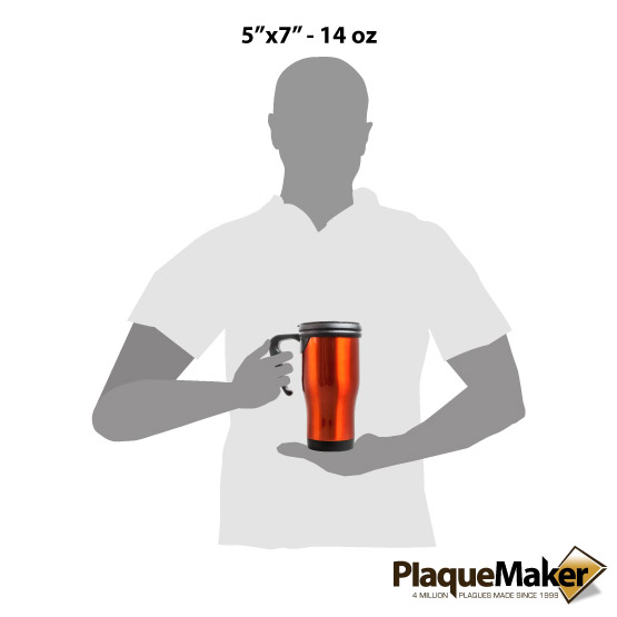 Orange Travel Mug w/Handle Sizes