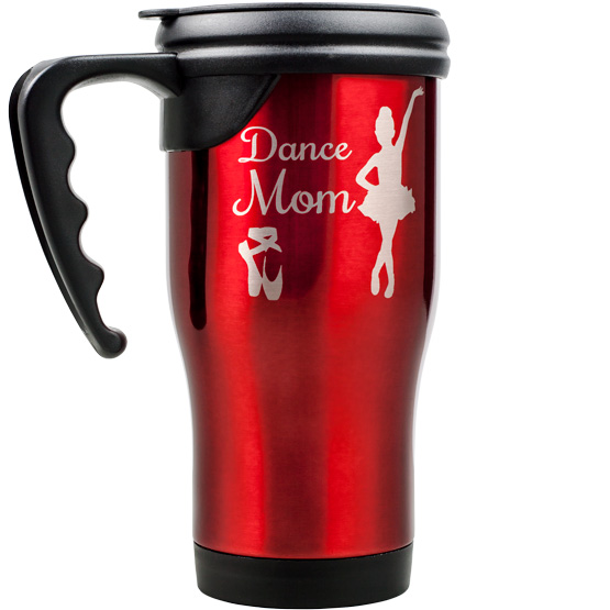 Red Travel Mug w/ Handle