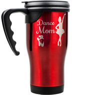 Red Travel Mug w/ Handle