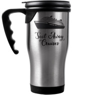 Stainless Steel Travel Mug w/Handle