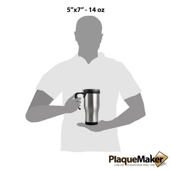 Stainless Steel Travel Mug w/Handle