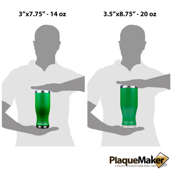 Green Pilsner Tumbler Sizes