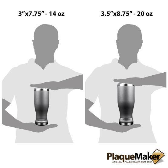 Dark Gray Pilsner Tumbler Sizes