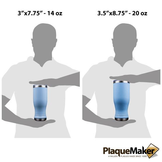 Light Blue Pilsner Tumbler Sizes