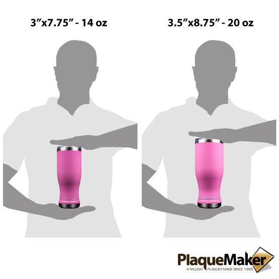 Pink Pilsner Tumbler Sizes