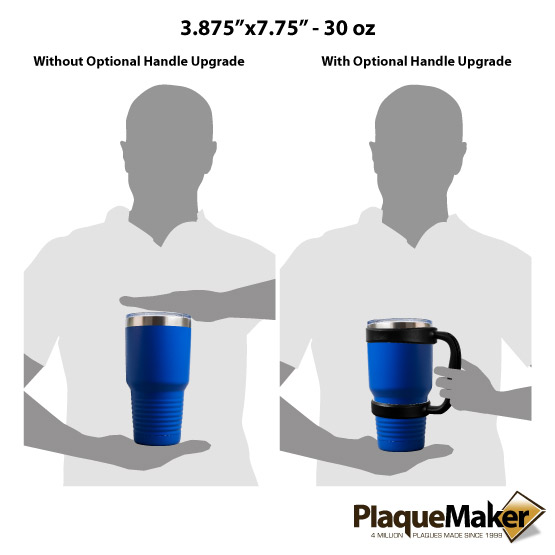 30 oz Blue Tumbler Sizes