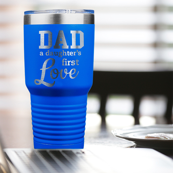 Daughter's First Love Blue Tumbler