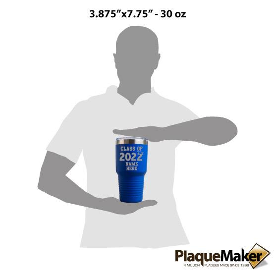 30 oz Class of Blue Tumbler Size
