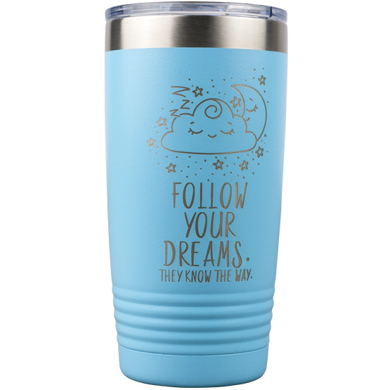 20 oz Light Blue Tumbler