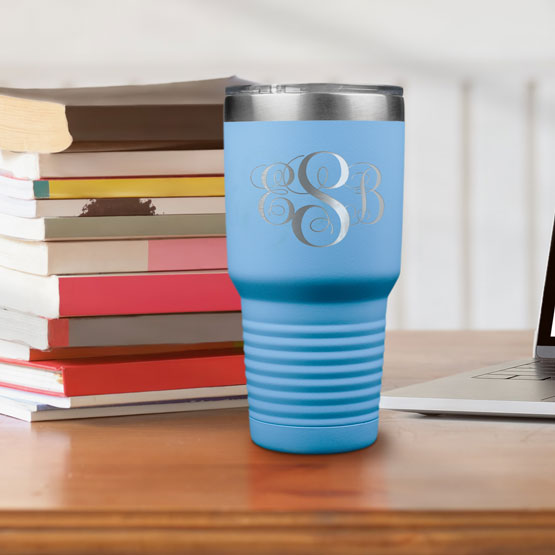 30 oz Light Blue Tumbler
